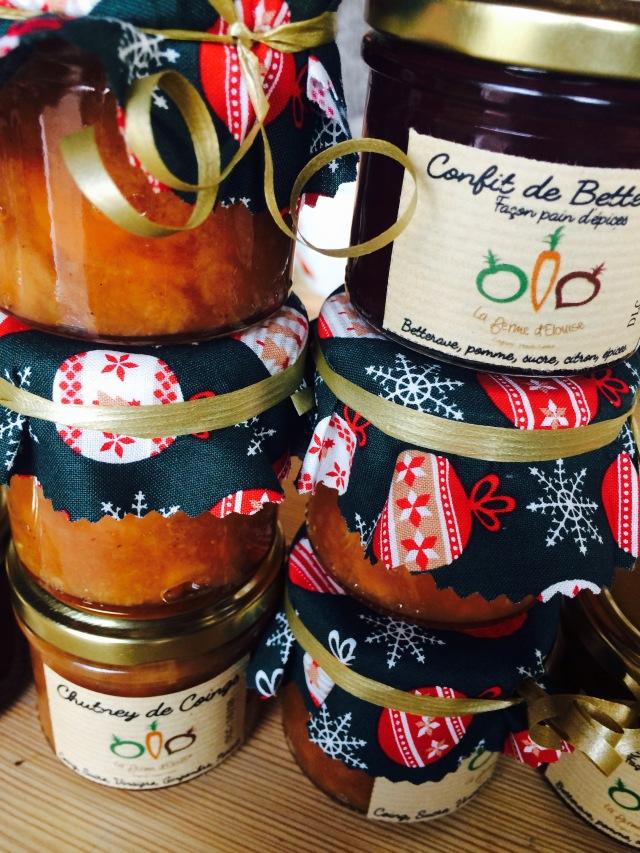 Chutney coing confit betteraves 2017 la ferme d'elouise